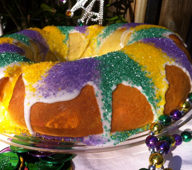 Whoever gets the baby has good luck for a year and has to host the following year's King Cake party!