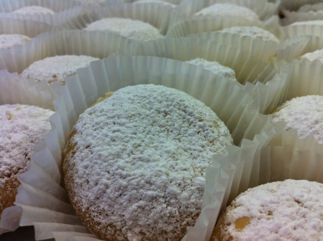 The powdered suger butter cookies just melt in your mouth!