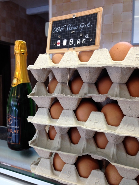Champagne and eggs?  I could do that.  I love champagne!