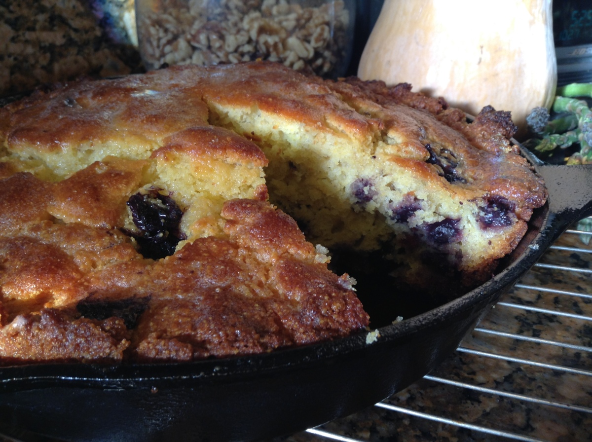 Sweet Blueberry Buttermilk Cornbread in a Jiffy