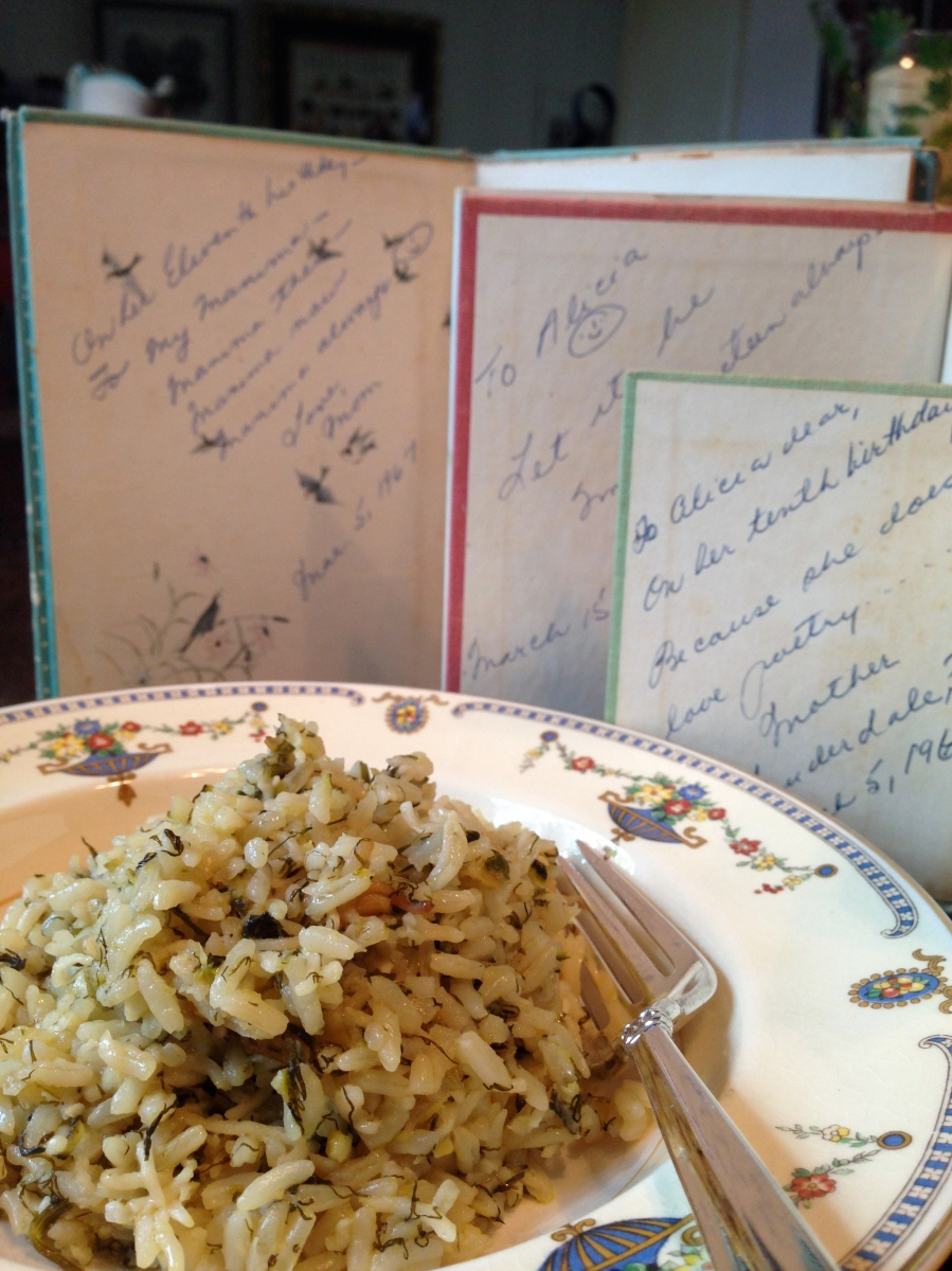 Herbed Rice Pilaf for a little Christmas comfort
