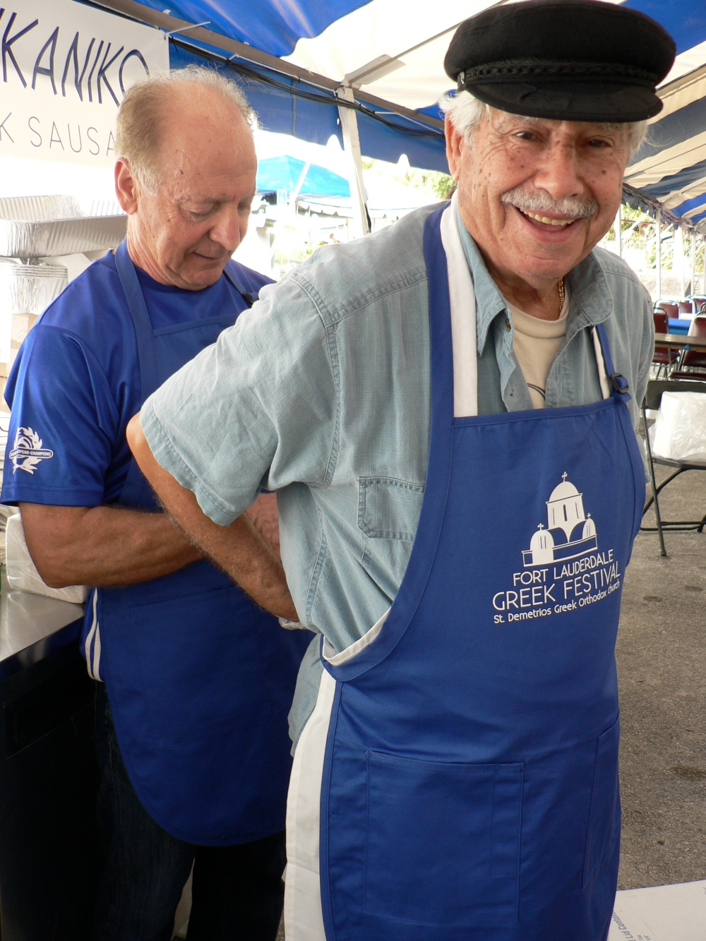 The czar of saganaki and loukaniko, Louie has been lighting Metaxa brandy to the delight of scores since the inception of the festival.  He makes a killer sandwich.  Watch your eyebrows.