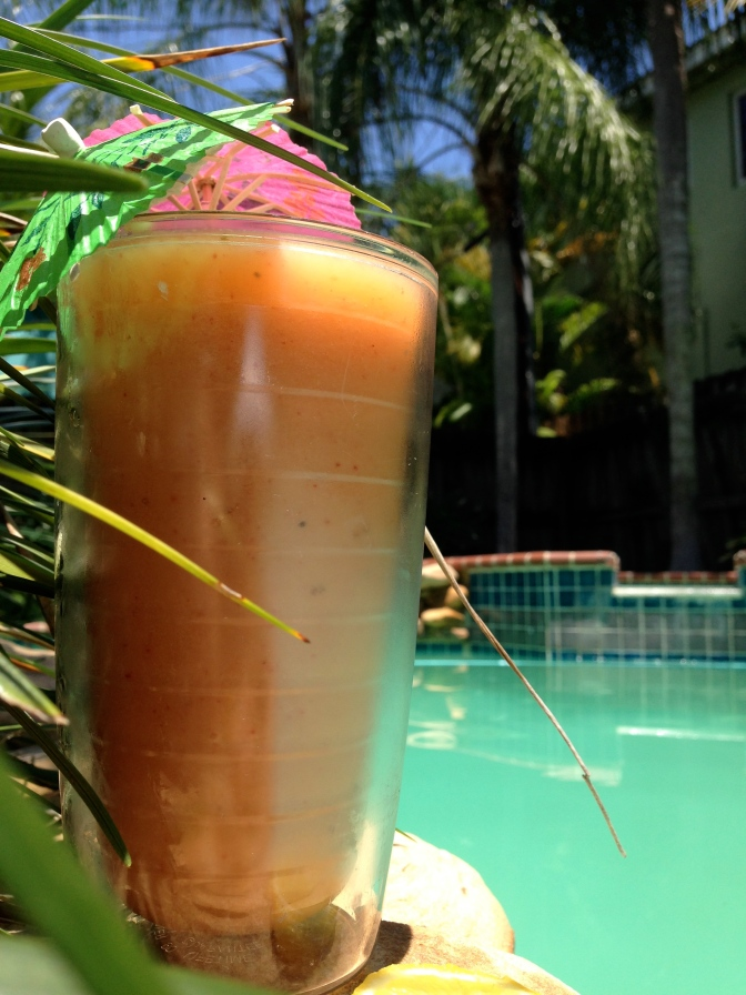 By the pool blender drinks. It's summertime!