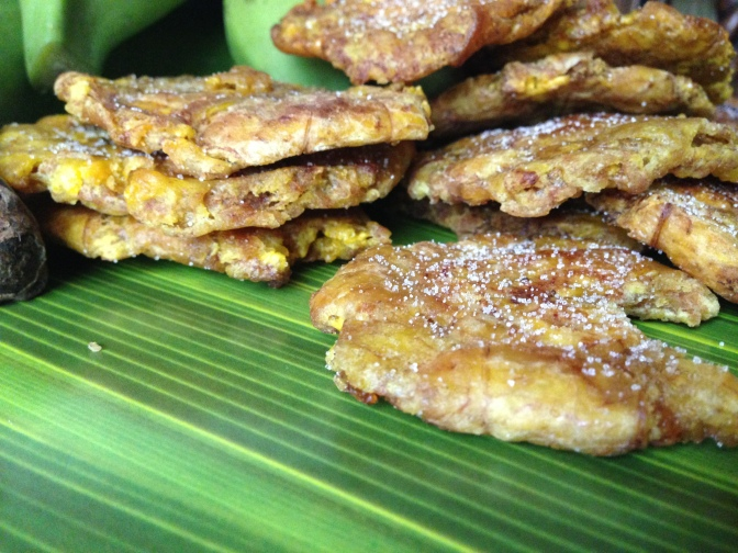 Salty, Fried Plantain Chips Beach Food Puerto Rican Style