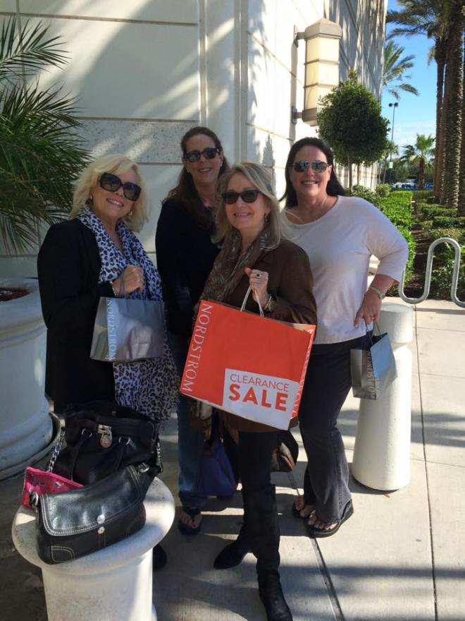 My Las Olas girls doing what we do best...shopping! L-R Alyson, Dana, Andrea and Dawn