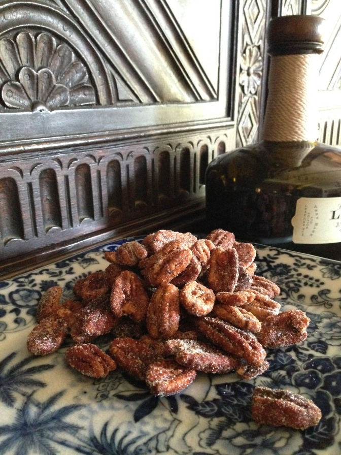 Sweet Heat Sriracha Pecans for my Las Olas Girls