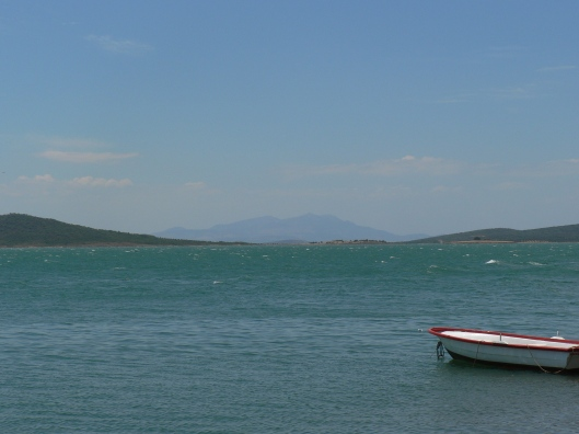 The waters off Ayvalik, Turkey.  Perfect to sit  and munch on gozleme...just let time go by.