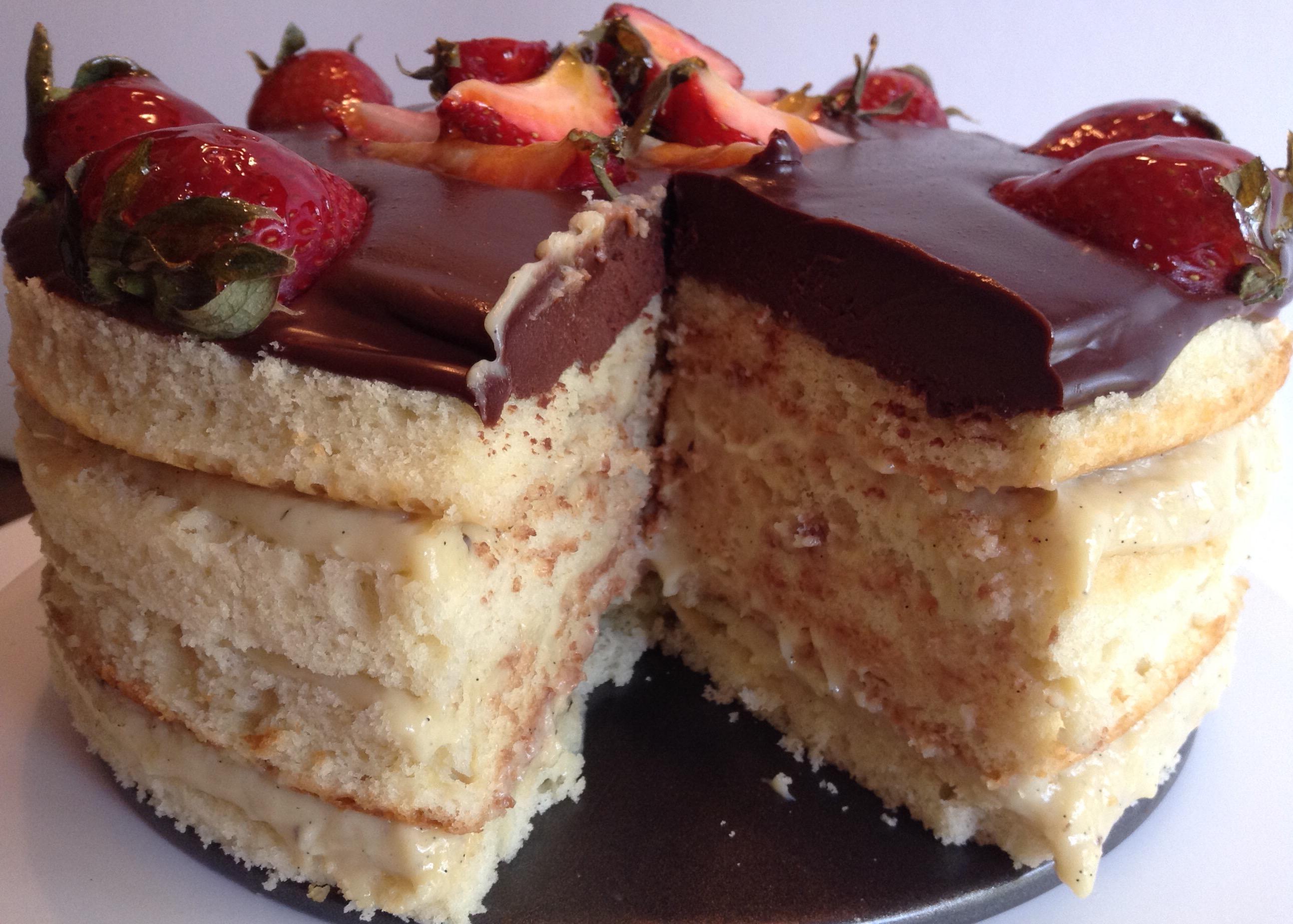 4 Layer Boston Cream Pie Cakefor Brothers Birthday The