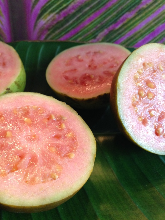 Love having fresh guavas in the kitchen.  Their perfume is positively heady!