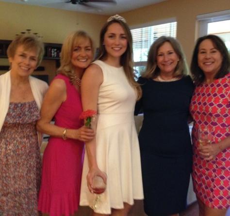 L-R Suzanne, Julie, Katie, Harriet and me