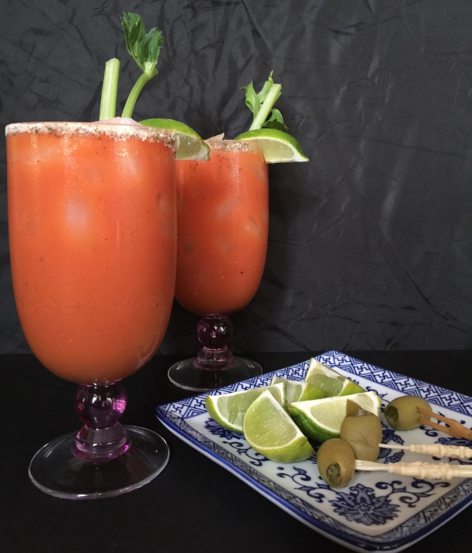 Spicy Roasted Tomato Bloody Marys, perfect for the weekend!