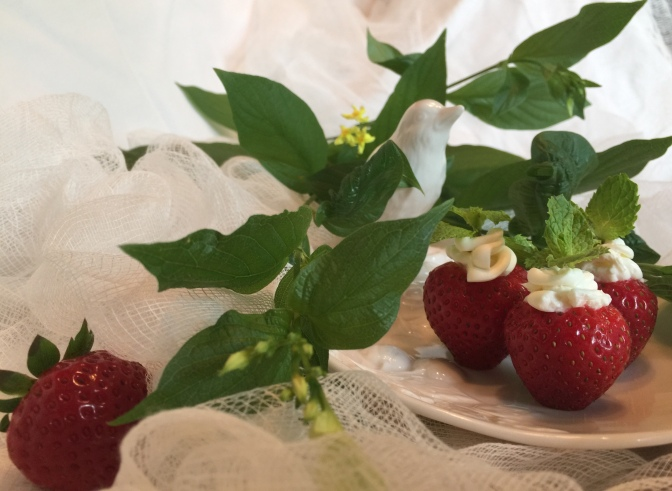 Sweet Filled Strawberries for our Sweet Bride