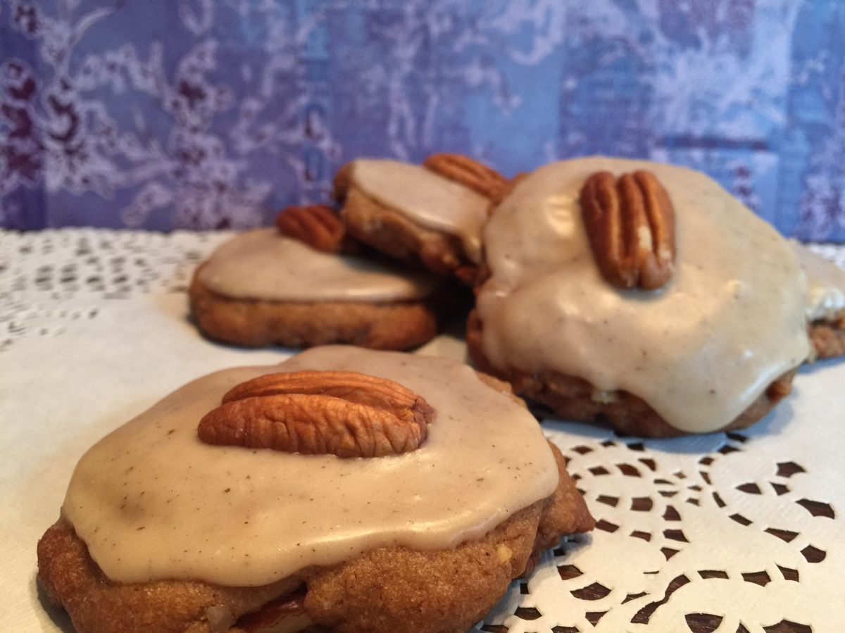Brown Butter Pecan Shortbread Cookies with a Bourbon and Brown Butter Glaze...whew!