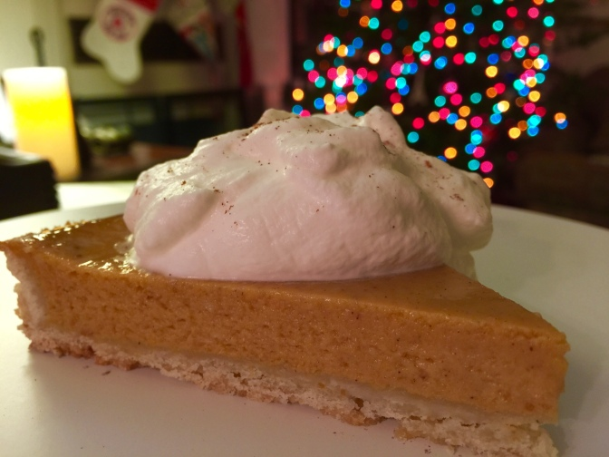 Over the Top Holiday Pumpkin Pie with Rum Sweetened Whipped Cream…and better the next day!
