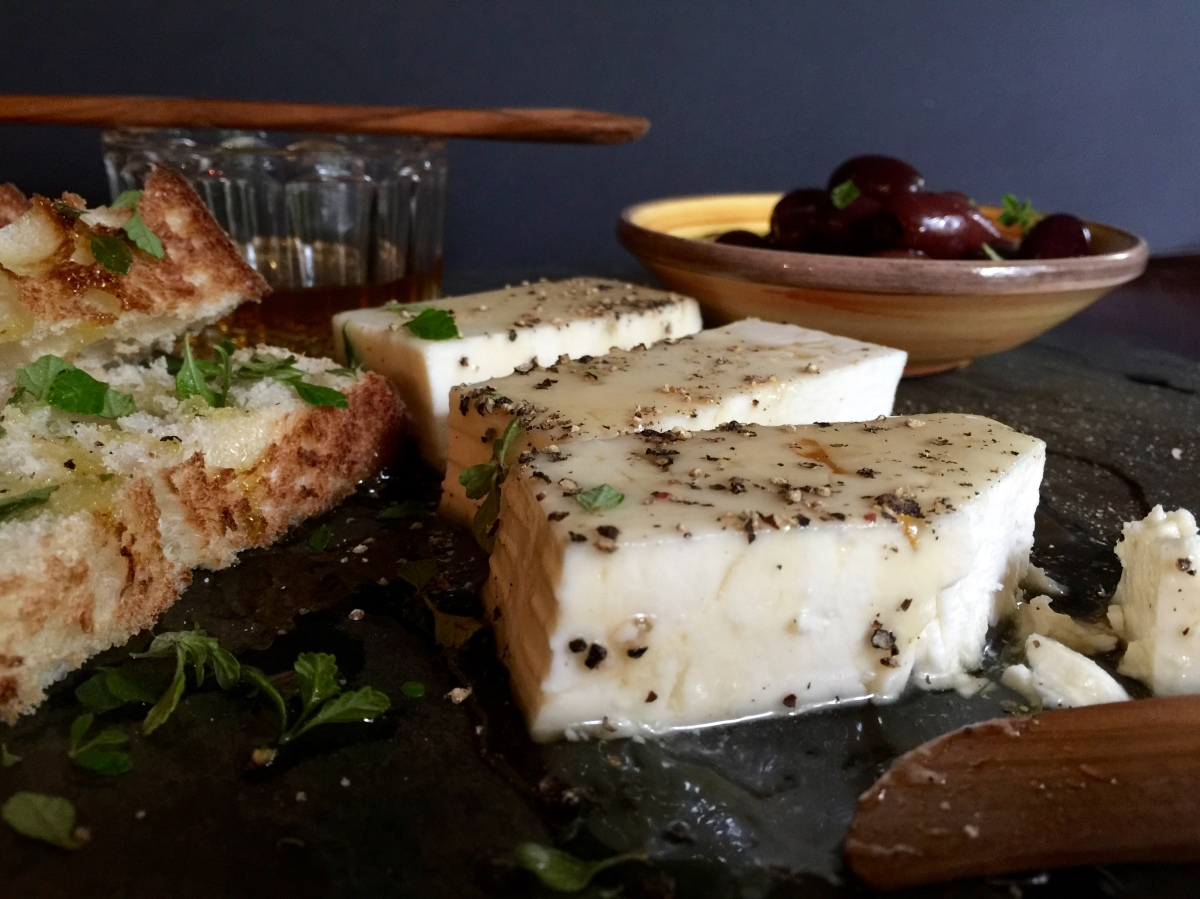 Feta, Honey and Black Pepper Appetizer