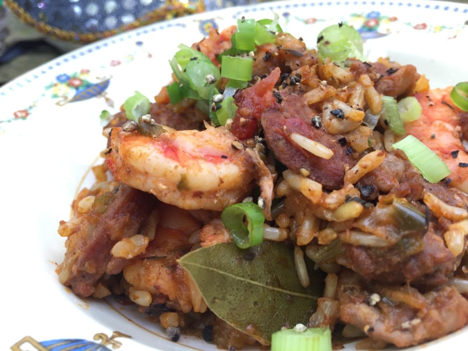 Shrimp, Sausage and Chicken Jambalaya…let the good times roll