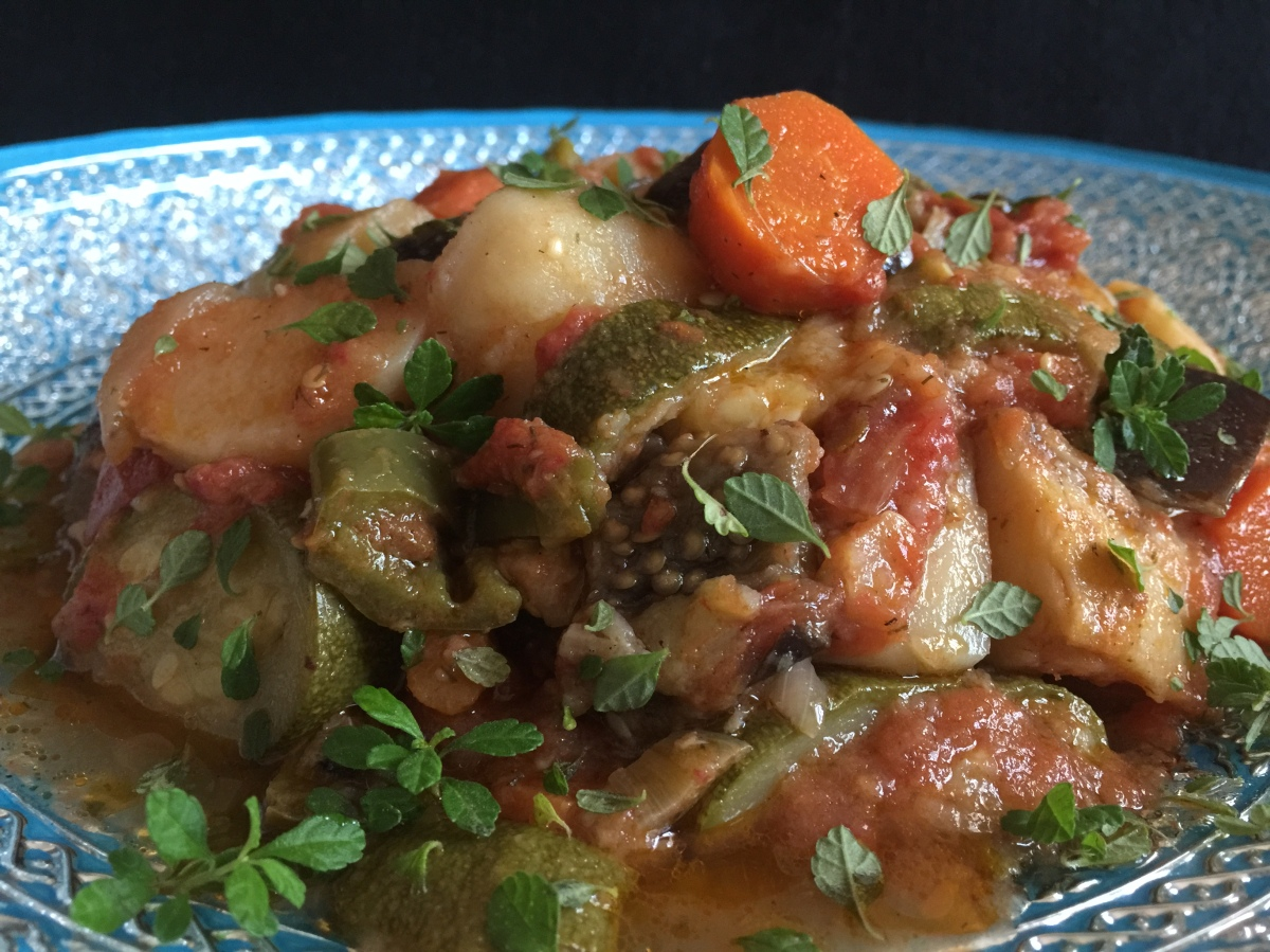 Roasted Vegetable Greek Stew...Tourlou Tourlou
