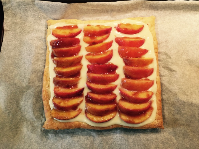 Peaches and Cream Tart = a happy father's day