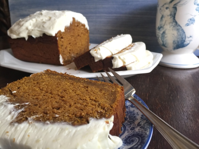 Pumpkin Spice Bread with Ginger Cream Cheese Icing