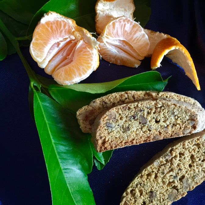 100% Whole Wheat, Orange, Nut and Olive Oil Biscotti