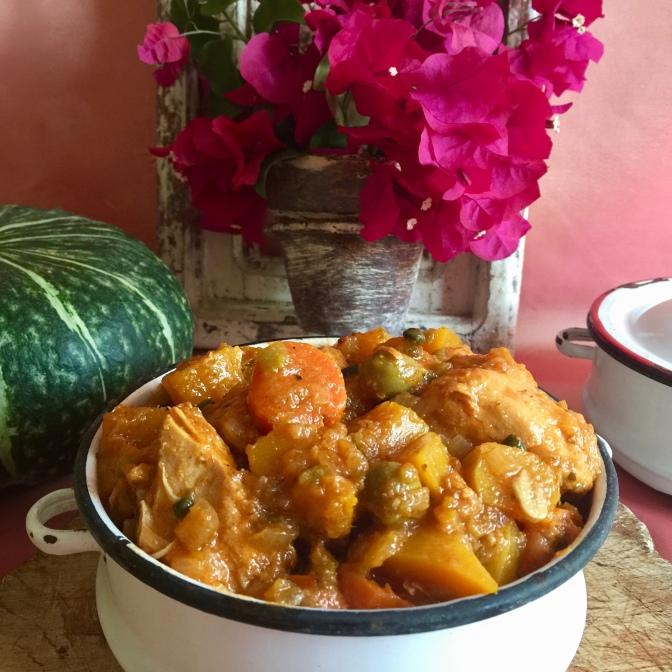 Puerto Rican Chicken Stew or Pollo en Fricase