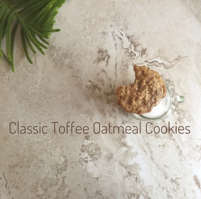 Classic Toffee Oatmeal Cookies