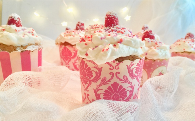 Classic Vanilla Cupcakes with Whipped Cream Icing
